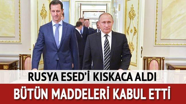 Esed, Putin'in teklifini kabul etti