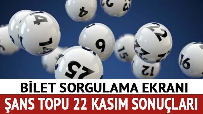 Şans Topu sonuçları 22 Kasım 2017 Şans Topu çekilişi bilet sorgula Milli Piyango