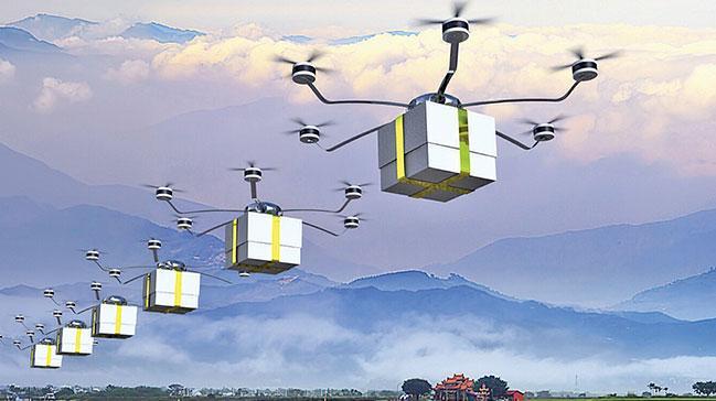 Bak+posta+'drone%E2%80%99u+geliyor,+selam+veriyor%21;