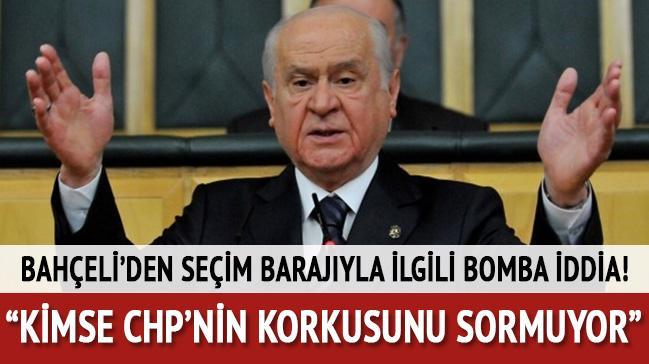 MHP lideri Bahçeli'den CHP'ye sert sözler!
