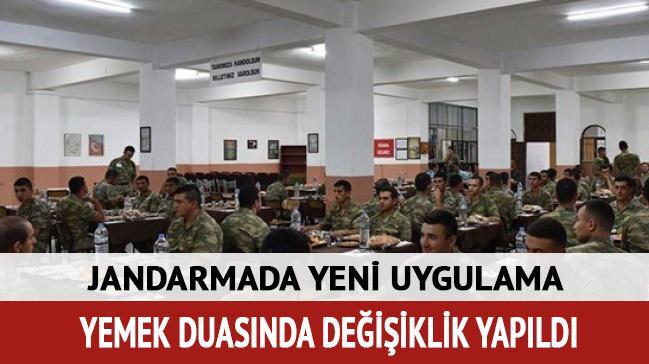 Jandarma Genel Komutanlığından yemek duası yönergesi