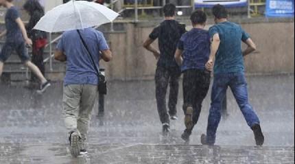 İstanbul'da kuvvetli sağanak yağış