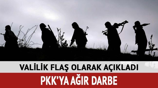 Terör örgütü PKK'ya ağır darbe vuruldu