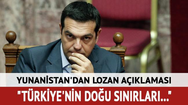 Yunanistan'dan lozan açıklaması