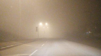 Ağrı'da sis ulaşımı olumsuz etkiliyor