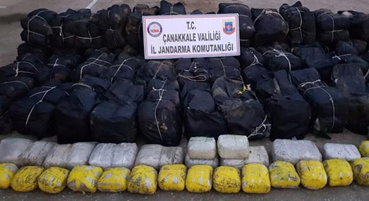 Çanakkale'de uyuşturucu satıcılarına büyük darbe vuruldu