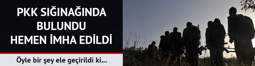 PKK sığınağında kitap ve satranç takımı da ele geçirildi