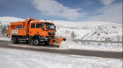 Ardahan'da karla mücadele