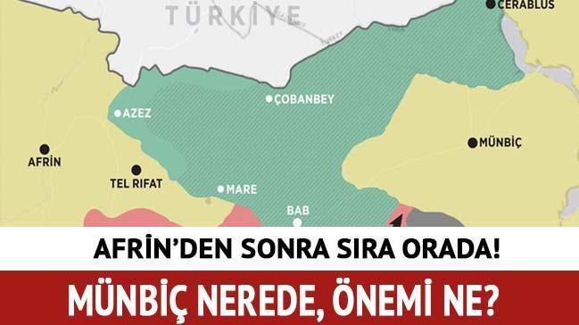 Münbiç nerede, ne demek? Suriye Münbiç haritası nasıl