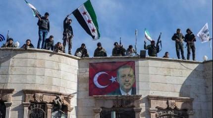 Azez halkı terör örgütü PKK/PYD'yi protesto etti