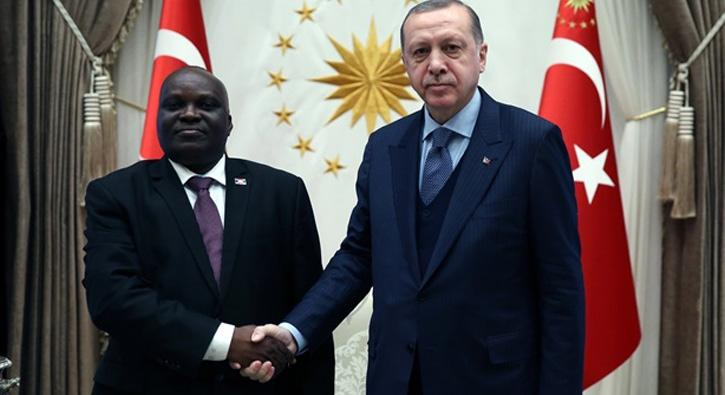 Cumhurbaşkanı Erdoğan Nyabenda'yı kabul etti