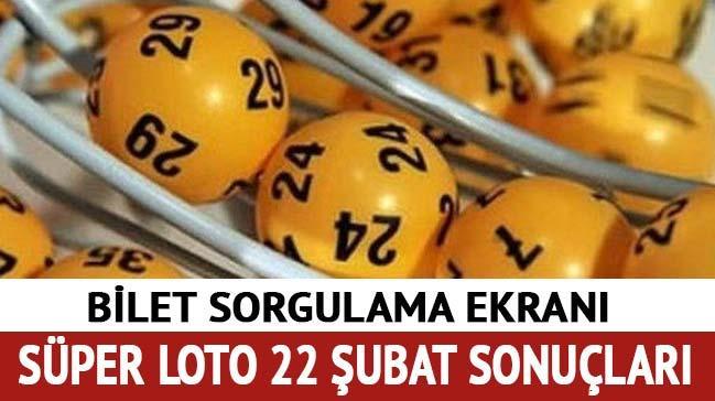 Süper Loto 22 Şubat sonuçları Süper Loto çekilişi bilet sorgula (Milli Piyango 2018)
