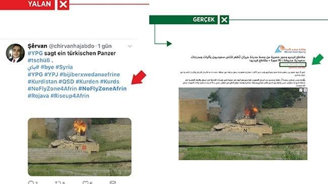 PYD/PKK destekçileri Afrin yalanlarında yine montaj yaptı