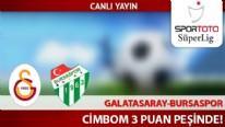 Galatasaray, Bursaspor karşısında 3 puan peşinde!