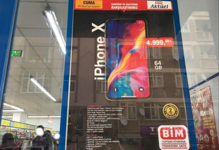 Bim 64GB iPhone X'i 4999TL