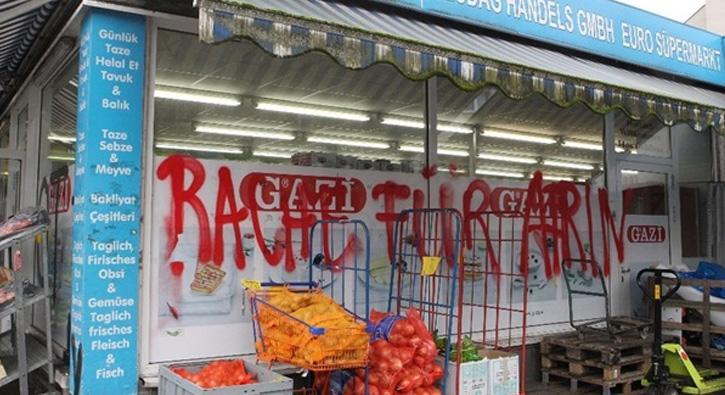 Almanya da Türk marketine saldırı