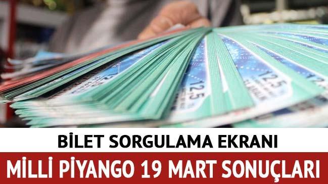 Milli Piyango 19 Mart sonuçları 2018 Milli Piyango sorgulama çekiliş sonuçları mpi.gov.tr'de