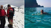 Antalya'da aynı gün içinde hem kar hem deniz keyfi