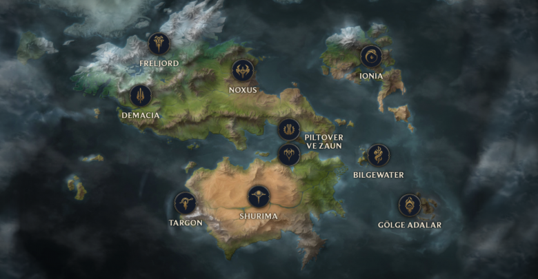 Visual result of Runeterra map