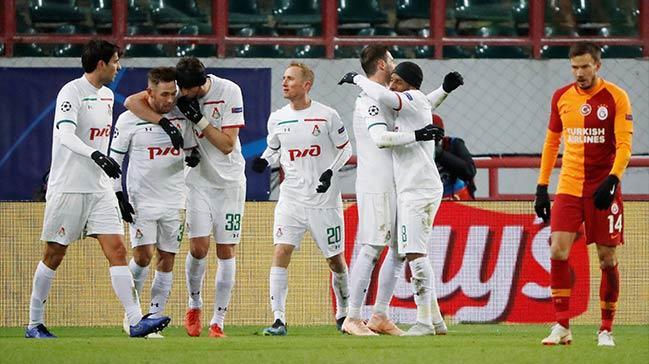 Galatasaray deplasmanda Lokomotiv Moskova'ya 2-0 mağlup oldu