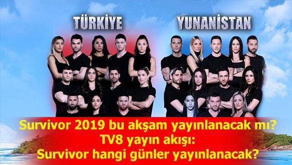 """TV 8 Survivor 2019 yayın akışı - Survivor 2019 ne zaman hangi günler"""""""