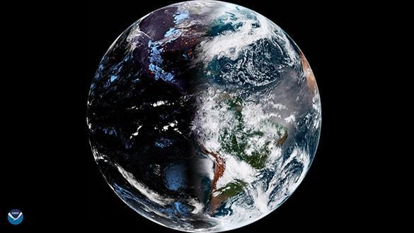 36 bin kilometreden dünyanýn en ilginç görüntüsünü çekti