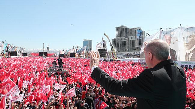 Başkan Erdoğan: Bu seçim, milli irade yüzsüzleri için yolun sonu olacaktır