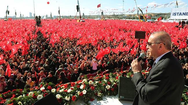 Cumhur İttifakı'nın Yenikapı Mitingi'ne büyük katılım