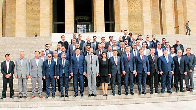 Cumhur İttifakı'nın başkanları Anıtkabir'de