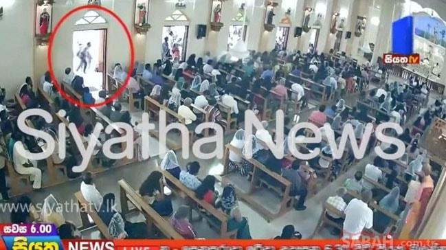 Sri Lanka saldırılarında bir şüphelinin görüntüsü güvenlik kamerasına yansıdı