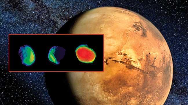 Ýþte Mars'ýn dolunayý