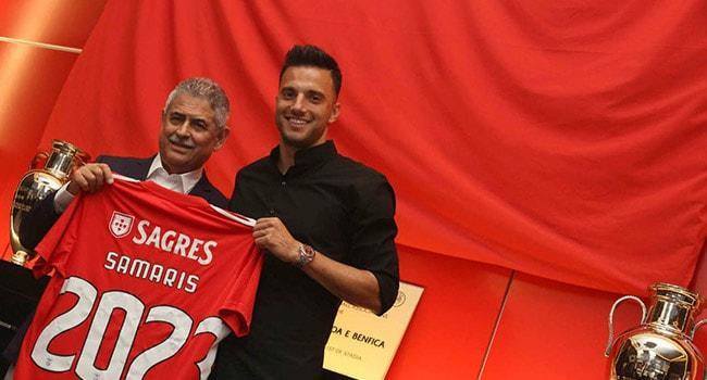 Galatasaray ve Fenerbahçe'nin gündeminde olan Samaris, Benfica ile sözleşmesini uzattı