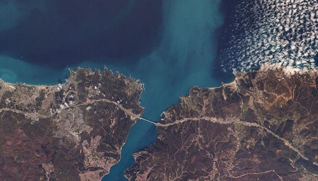 Yerli uydumuz RASAT, İstanbul boğazını görüntüledi