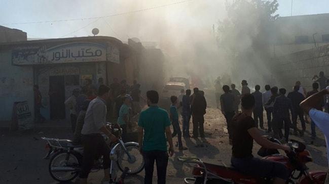 Azez'de meydana gelen patlamada 4 kişi yaralandı