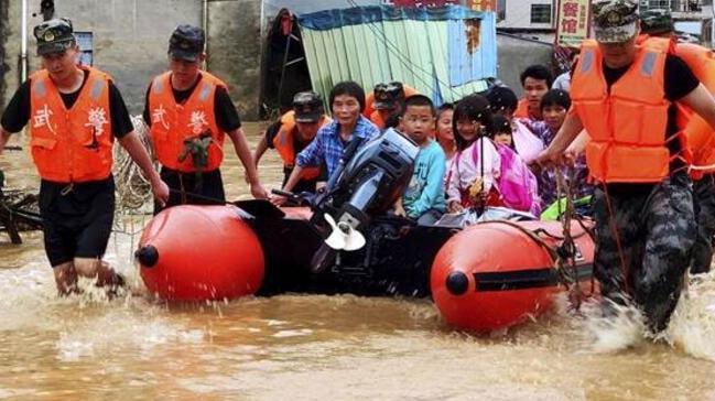 Çin'de 6 Haziran'dan bu yana etkili olan yağışlarda 49 kişi öldü, 14 kişi kayboldu
