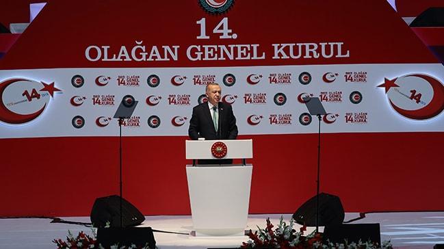 Başkan Erdoğan'dan HAK-İŞ 14. Olağan Genel Kurulu'nda önemli mesajlar