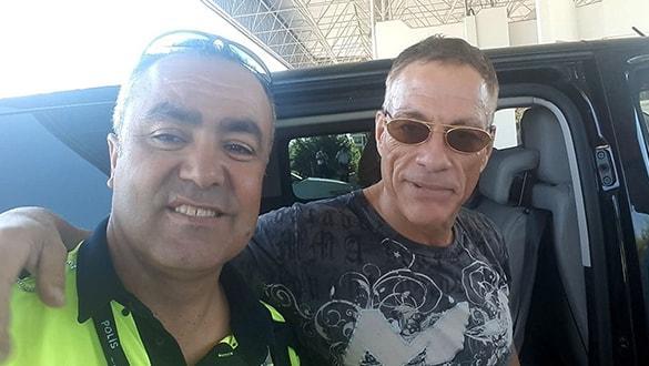 Dünyaca ünlü aktör Jean Claude Van Damme Bodrum'da
