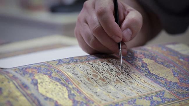 455 yıllık Kur'an-ı Kerim ince ince restore ediliyor