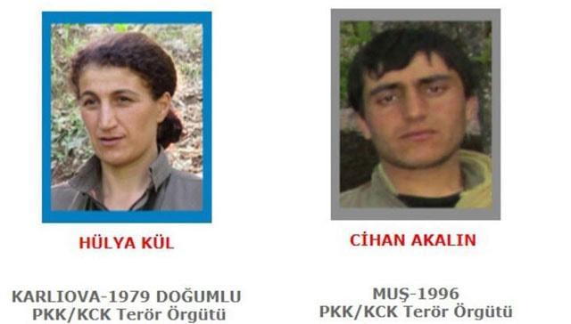 Terörden arananlar listesinden 2 terörist etkisiz hale getirildi