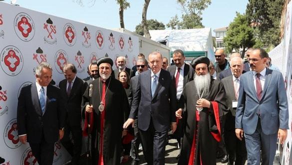 Başkan Erdoğan, Cumhuriyet tarihinde ilk Süryani Kilise'nin temelini attı