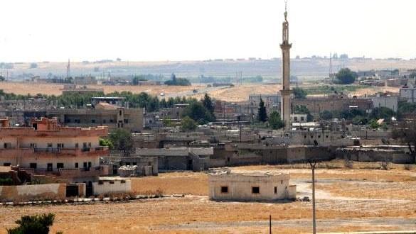 Hayalet ilçe Tel Abyad'daki terör mevzileri görüntülendi