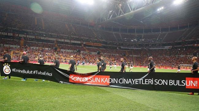 Türk Telekom Stadyumu'nda Emine Bulut unutulmadı!