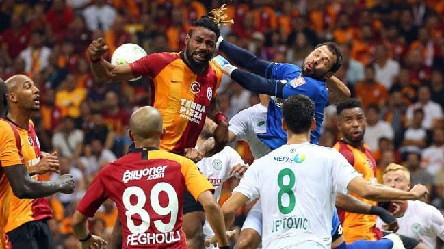 Galatasaray-Konyaspor karşılaşmasında penaltı tartışması