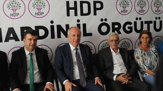 CHP ve HDP'den karşılıklı ziyaretler... Muharrrem İnce'den Ahmet Türk'e: Desteğimiz sizinle