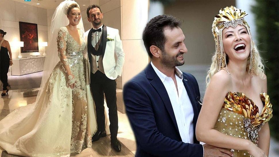 Ünlü şarkıcı Aylin Coşkun ile Volkan Aslan evlendi! İşte düğünden kareler...