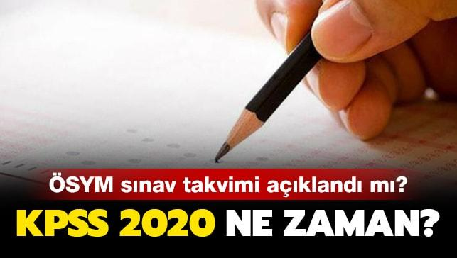 """KPSS 2020 ne zaman yapılacak"""""""