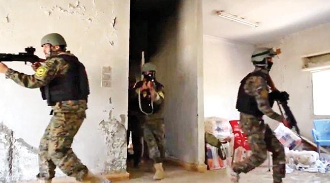 PYD'li teröristlereABD'den eğitim! Tatbikat yaptılar
