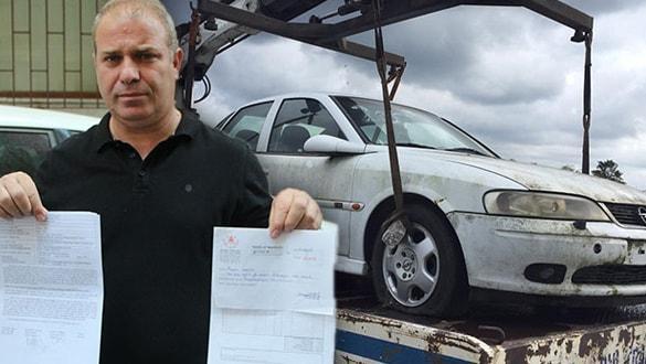 Arabasını 12 yıl sonra buldu... 32 bin liralık borcu öğrenince ise şok yaşadı