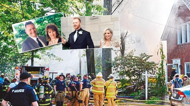 Kızının düğününde evini havaya uçurdu