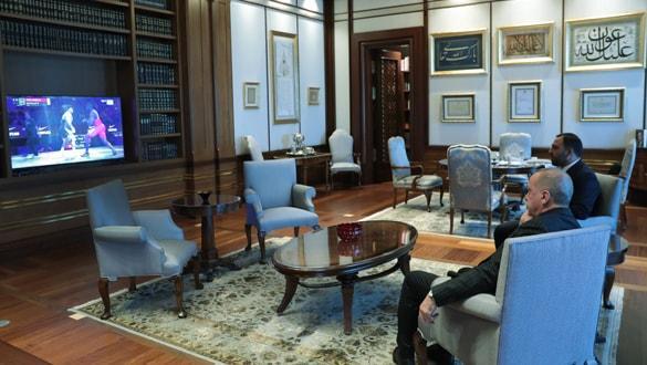 Başkan Erdoğan'dan Rıza Kayaalp'e kutlama
